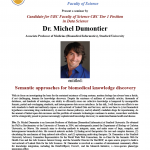 [VanBUG] Fwd: Dr. Michel Dumontier – Candidate for UBC Faculty of Science CRC Tier 1 Position in Data Science – Monday May 11, 2015 @ 11:00am-12:00pm, LSC3